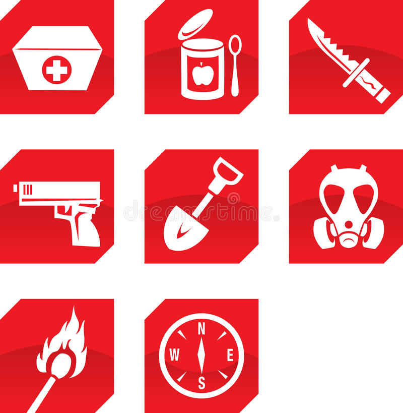 Free Survivalist Icons Royalty Free Stock Photo - 24922335