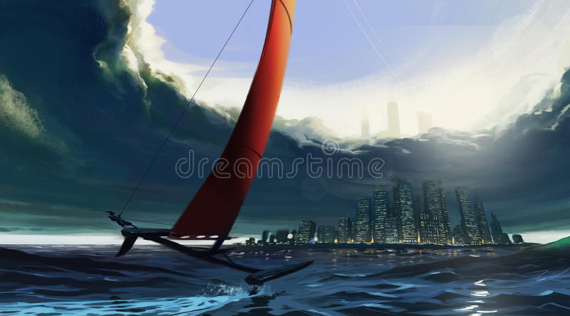 Download Surviving stock illustration. Image of ferry, float, escape - 34228839