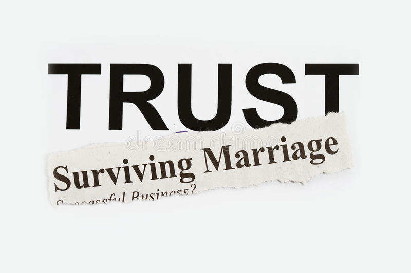 Surviving marriage stock photography