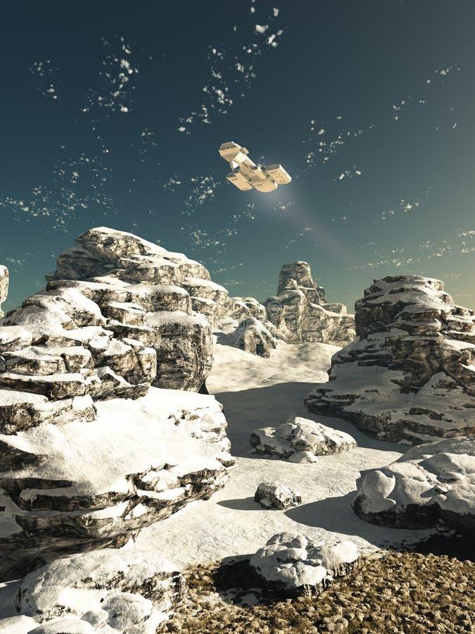 Survol d'hiver illustration de vecteur