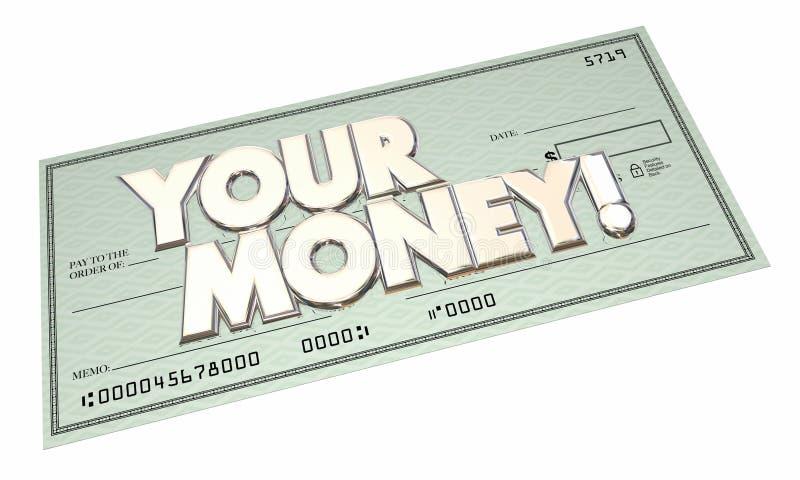 Sus ahorros de la riqueza de las ganancias de la renta del pago del control del dinero libre illustration