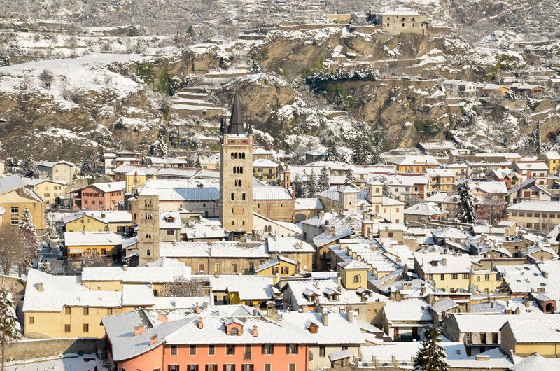 Susa city. The city of Susa in the Susa Valley in Piedmont stock images