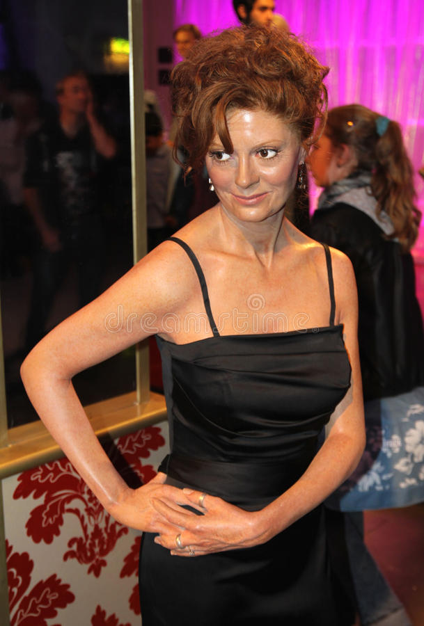 Susan Sarandon at Madame Tussaud's royalty free stock image