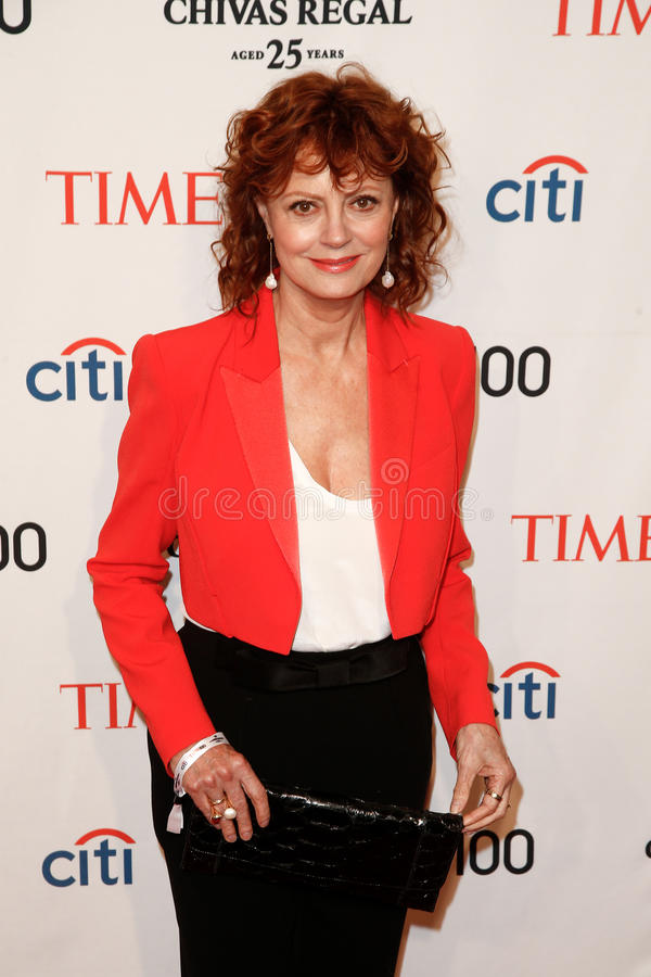 Susan Sarandon. NEW YORK-APR 29: Actress Susan Sarandon attends the Time 100 Gala celebrating its Time 100 Issue of the Most Influential People in the World at stock photo