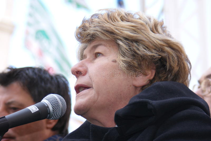 Susanna Camusso, italian CGIL union leader stock photo