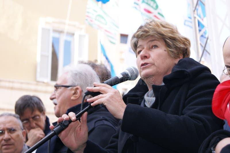 Susanna Camusso, italian CGIL union leader stock photos