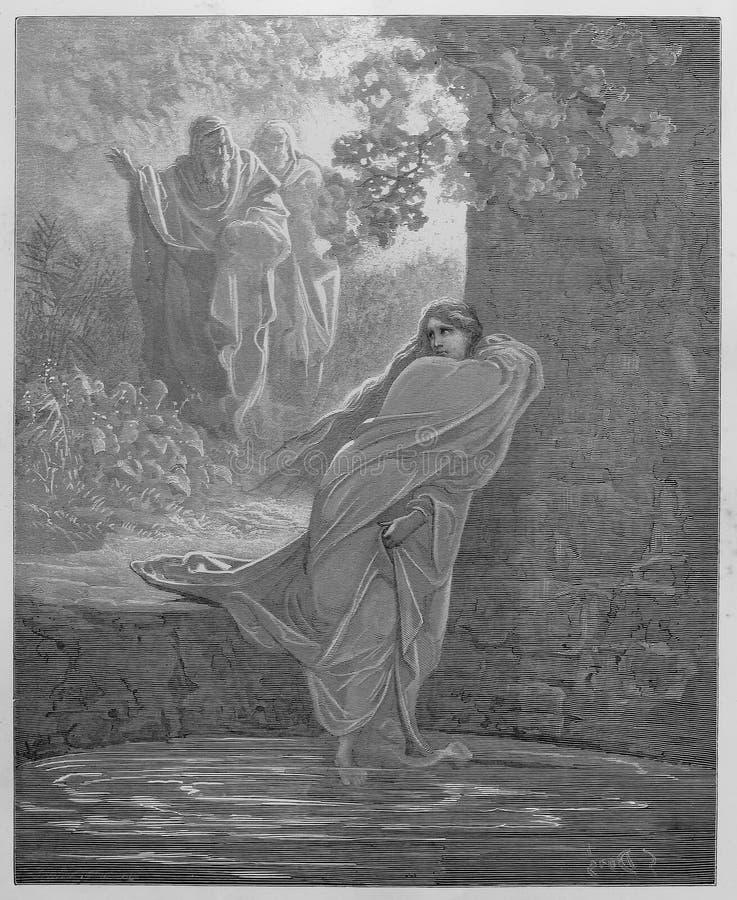 Susanna in het Bad stock illustratie