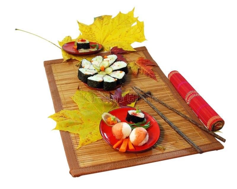 Sush diente im Herbst stockfoto