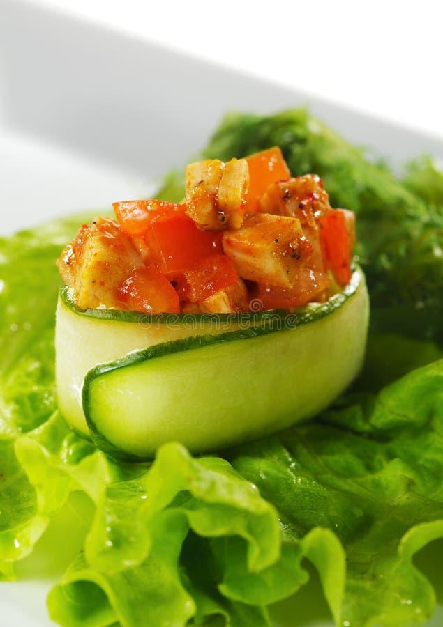 Sushi épicés de thon photo stock