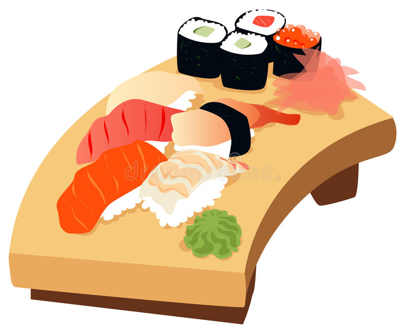 sushi royaltyfri illustrationer