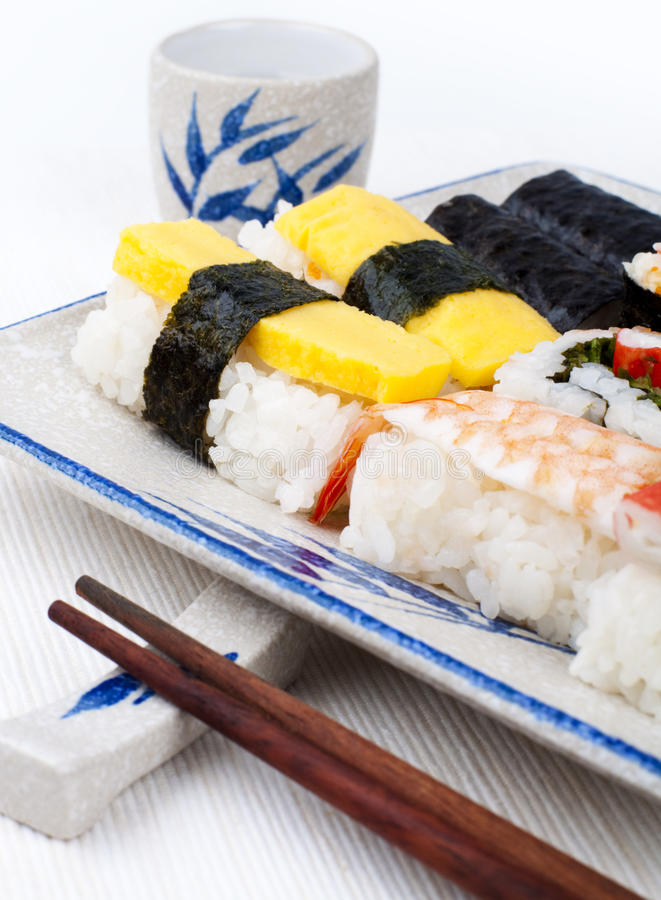 Download Sushi stock image. Image of fresh, group, close, cuisine - 12409649
