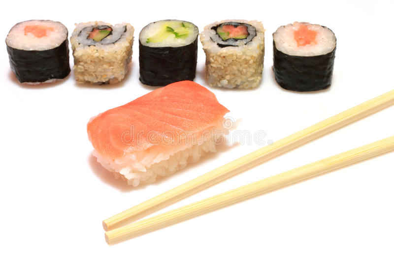 Download Sushi stock image. Image of rolls, rice, platter, food - 12893167