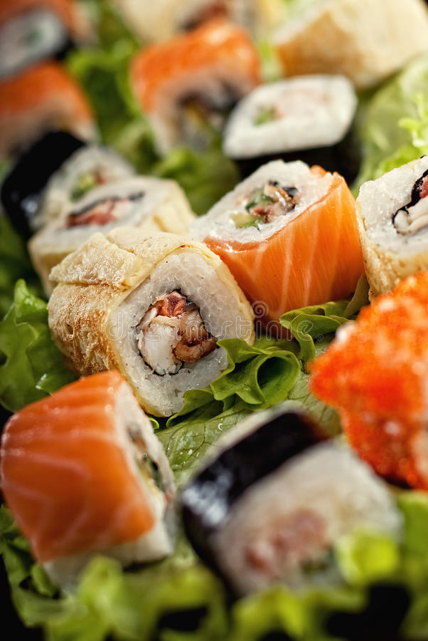Sushi. Is popular japanese dish stock photography