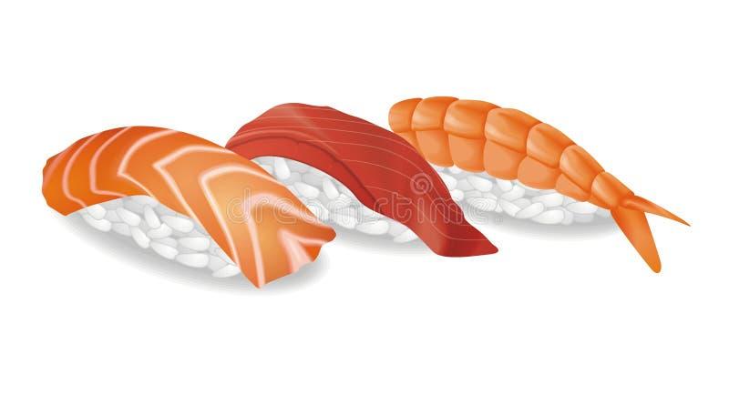 Sushi ilustração stock