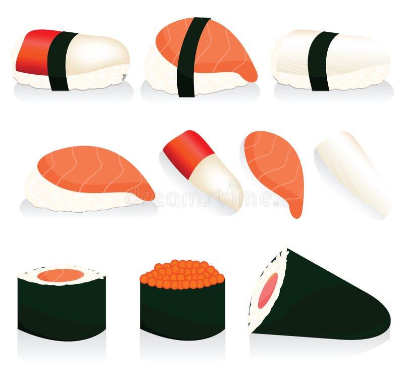 Download Sushi stock vector. Image of roll, oriental, fillet, gourmet - 20529289