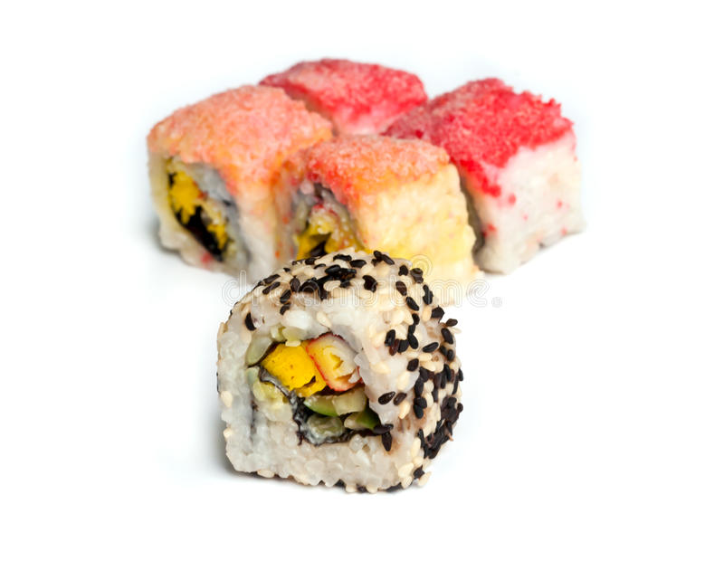 Download Sushi . stock image. Image of prepared, rolls, closeup - 27194319