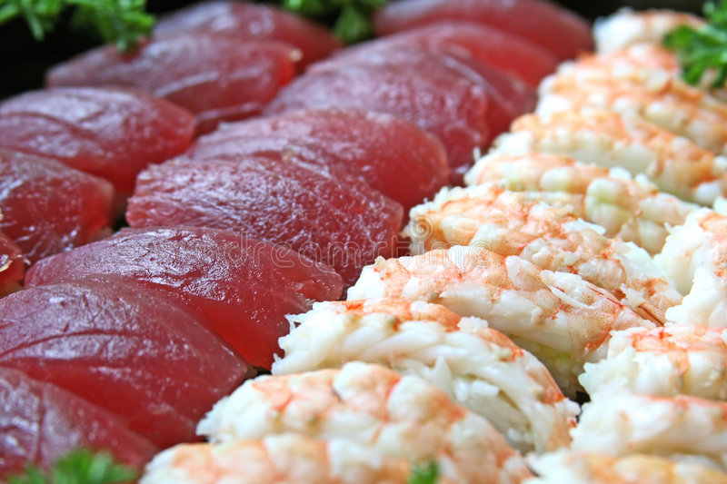 Download Sushi stock image. Image of tray, appetizer, healthy, tuna - 3715405