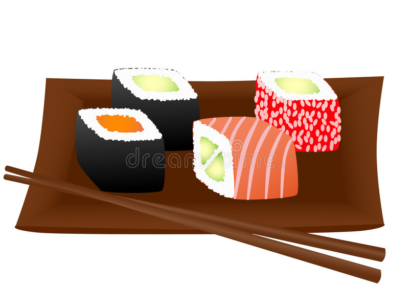 sushi ilustracji