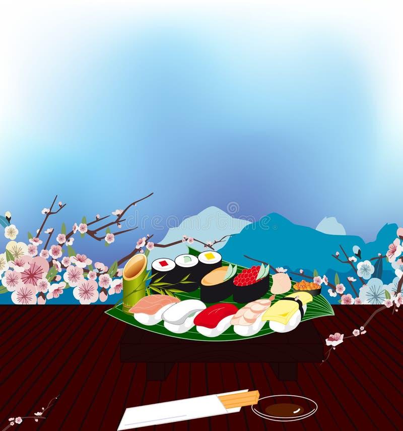 Download Sushi imagen de archivo. Imagen de palillos, diner, aperitivo - 42439917
