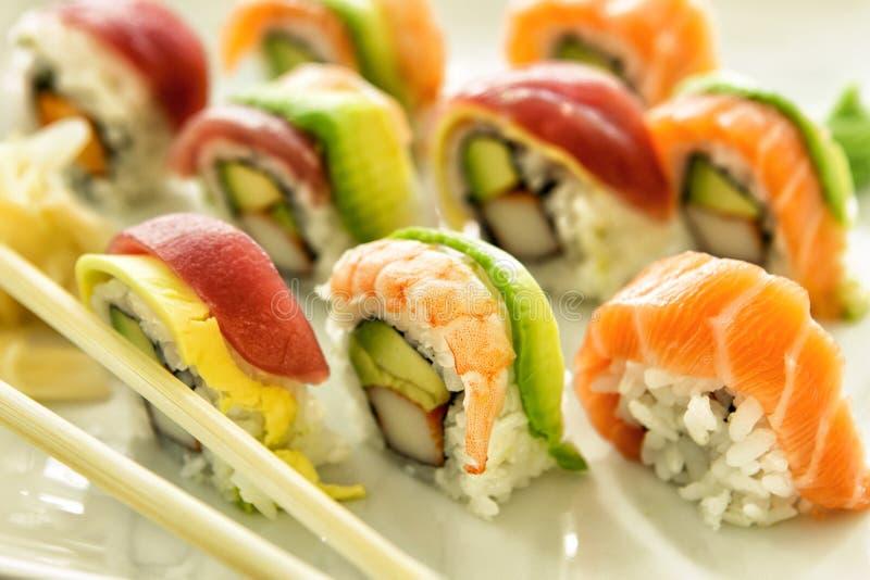 5 sushi arkivbild
