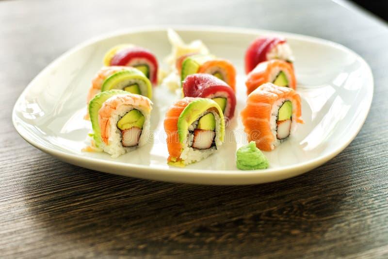 3 sushi royaltyfri foto