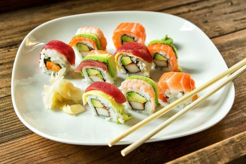 4 sushi royaltyfria foton