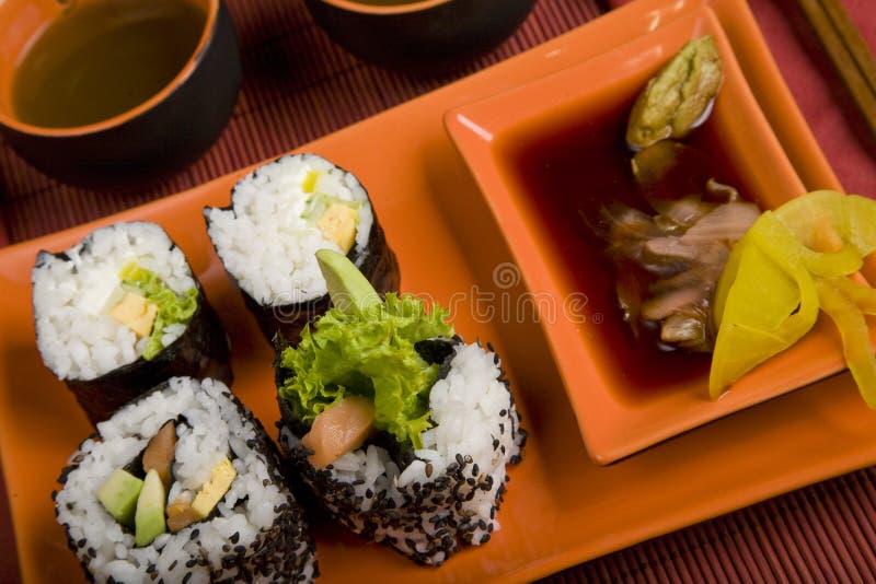 Download Sushi imagen de archivo. Imagen de alimento, oriental - 7151345