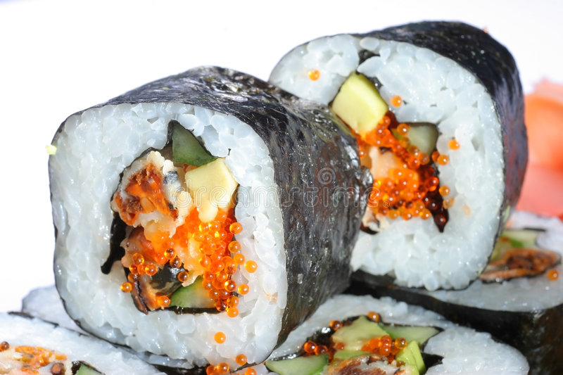 Download Sushi foto de archivo. Imagen de fresco, huevas, dieta - 7285338