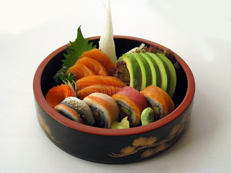 Sushi 9 combinés de sashimi image stock