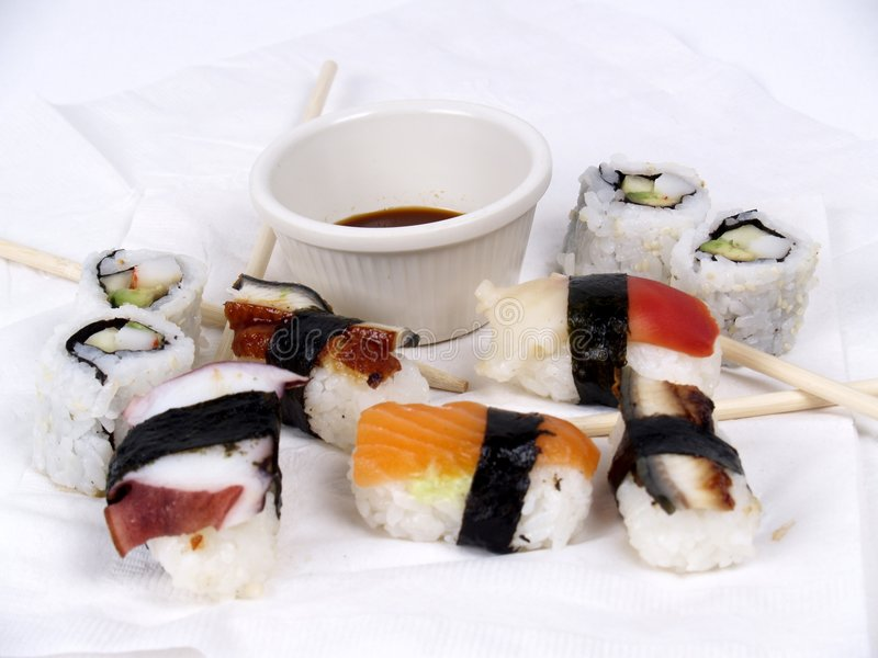 Sushi-Aperitif stockfotografie