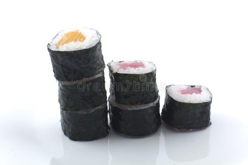 Sushi apilado imágenes de archivo libres de regalías