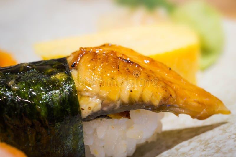 Sushi arrostiti di Unagi, alimento giapponese immagine stock