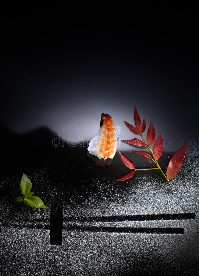 Sushi art stock photo