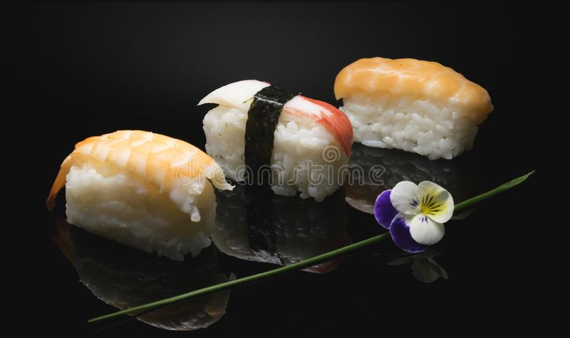 The sushi is an art form to be discovered. Sushi is an ancient art a philosophy royalty free stock images