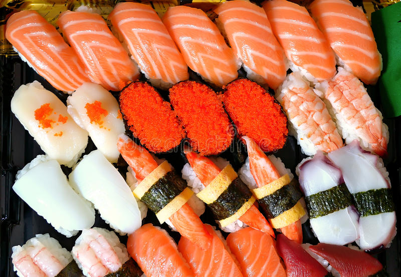 Sushi Assorted fotografie stock