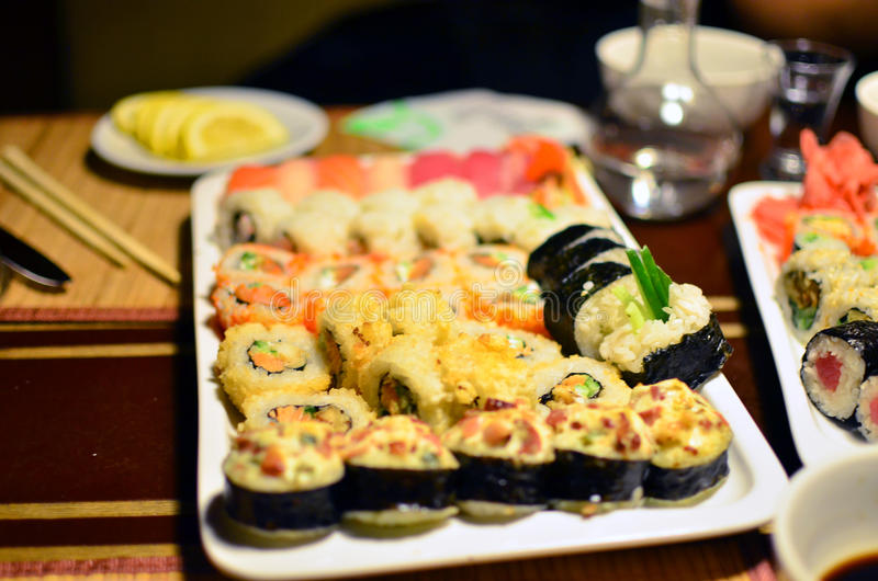 Sushi assorted stock image