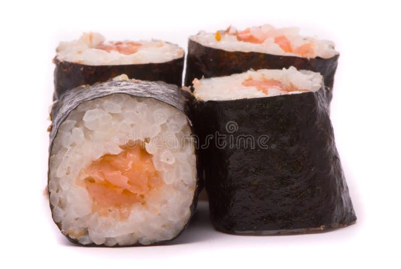 Sushi auf einem weißen Hintergrund lizenzfreies stockfoto