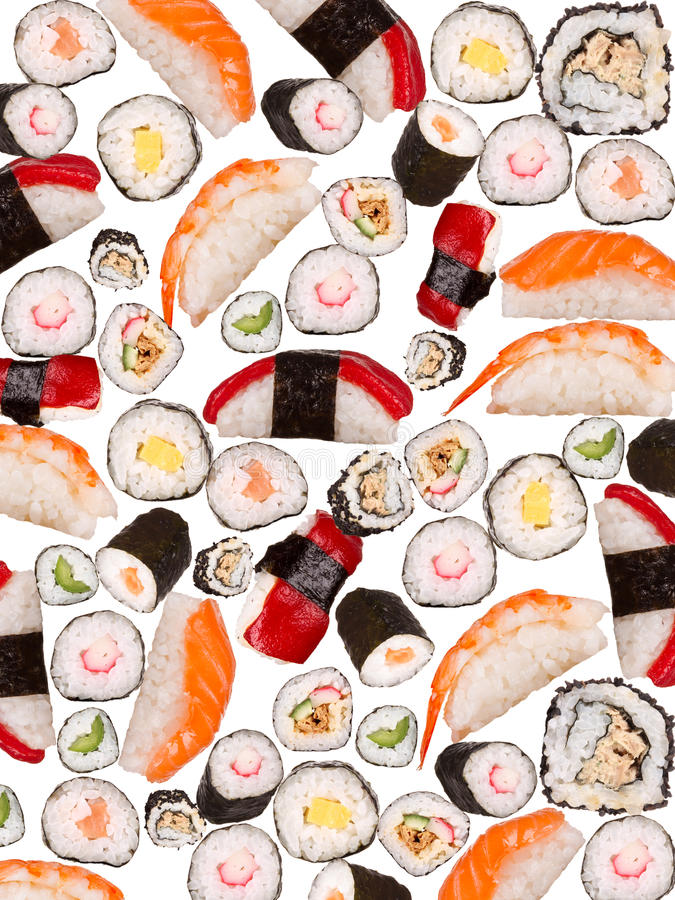 Sushi background royalty free stock photography