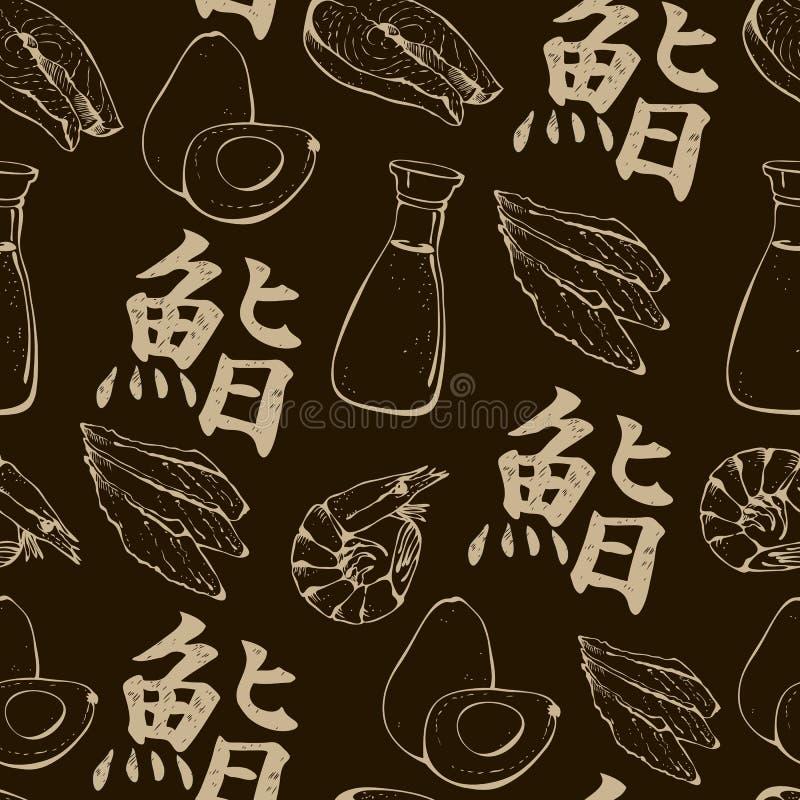 Sushi background royalty free illustration