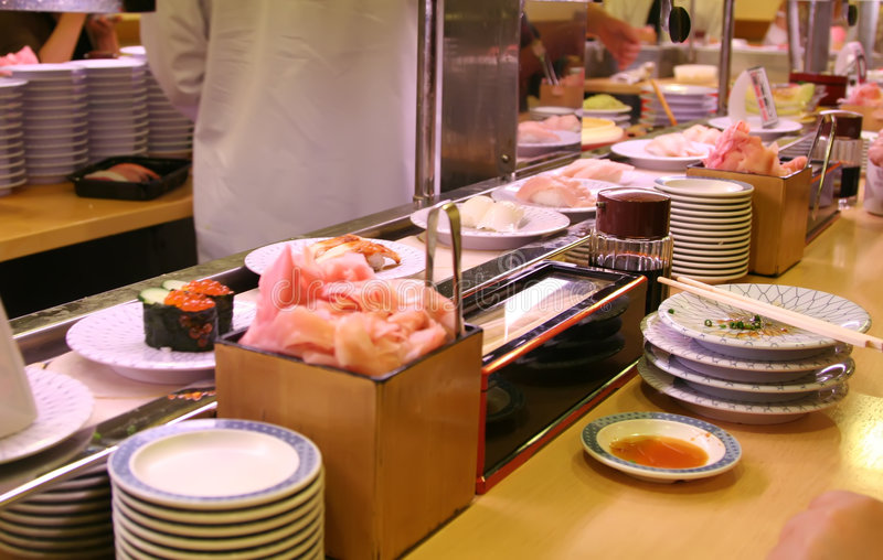In A Sushi Bar Stock Photography