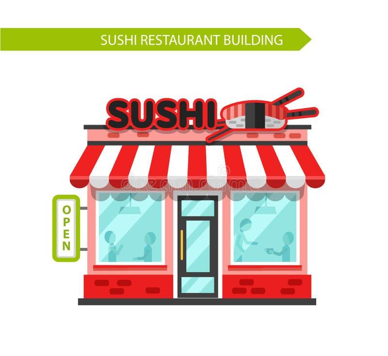 Sushi-Bar-Gebäude vektor abbildung