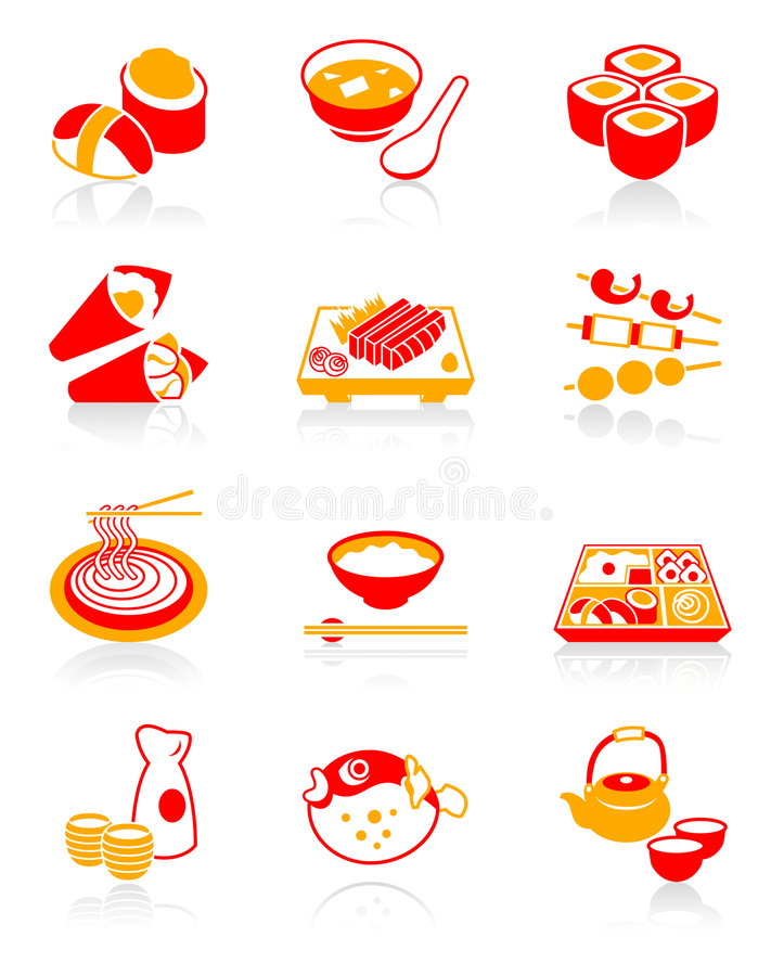 Download Sushi-bar Icons | JUICY Series Stock Vector - Image: 7695628