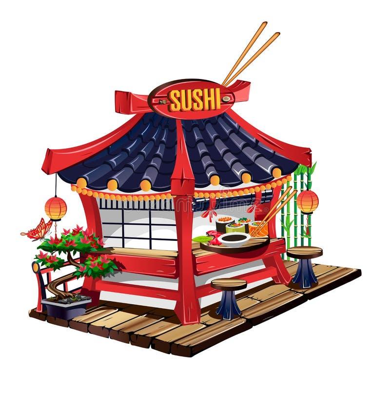 Sushi bar royalty free illustration