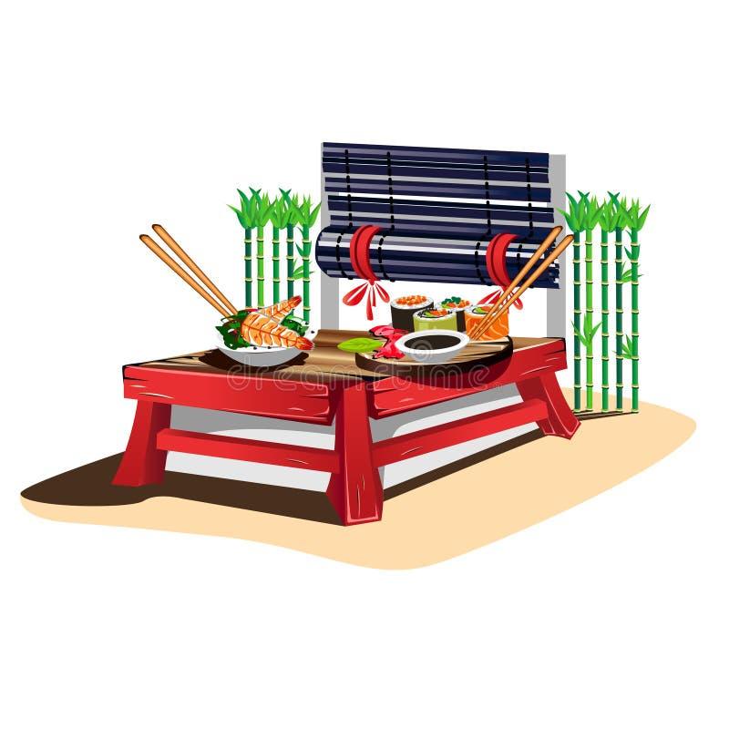 Sushi bar vector illustration
