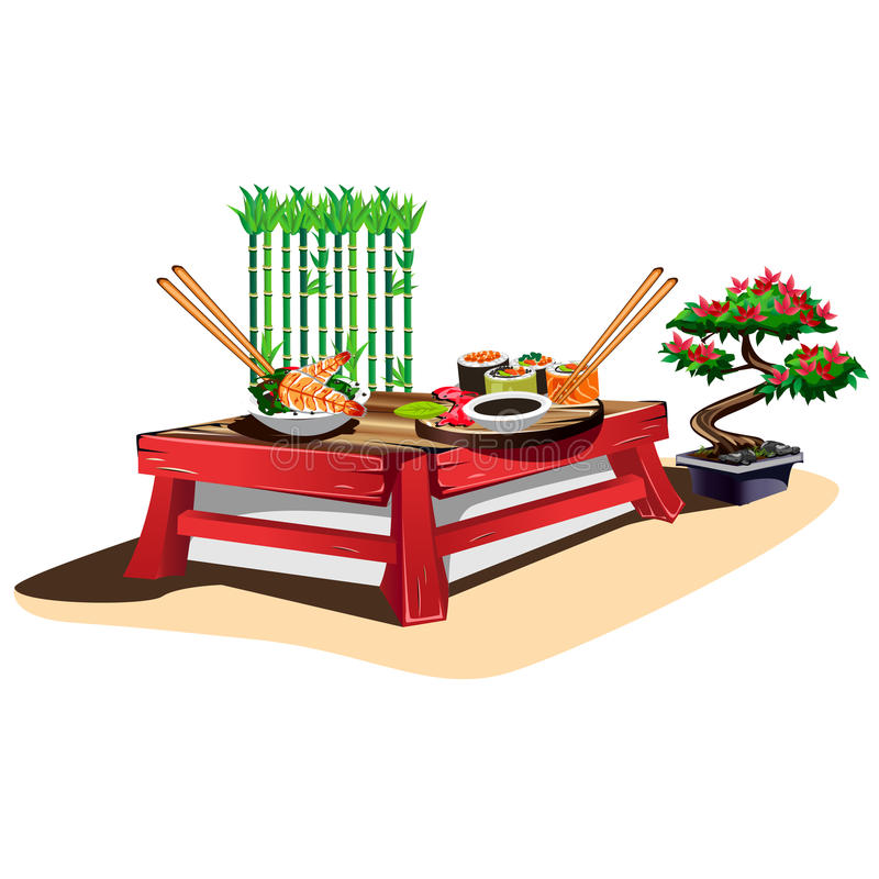 Sushi bar stock illustration