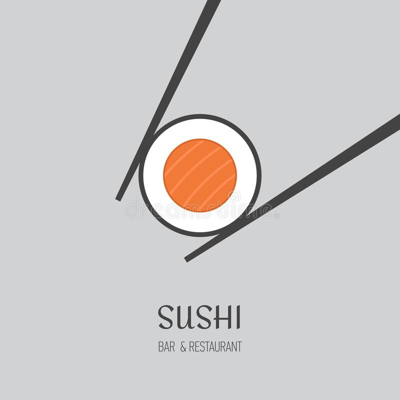 Sushi-Bar-Logo Sushi-Bar-Logo lizenzfreie abbildung