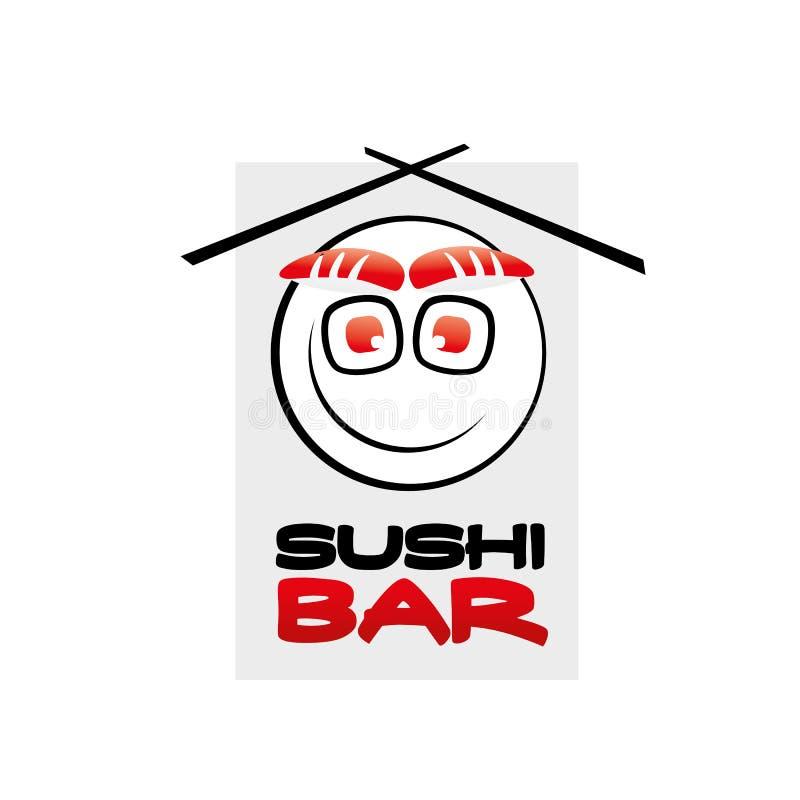Sushi bar logo. Stylish logo for a sushi bar royalty free illustration