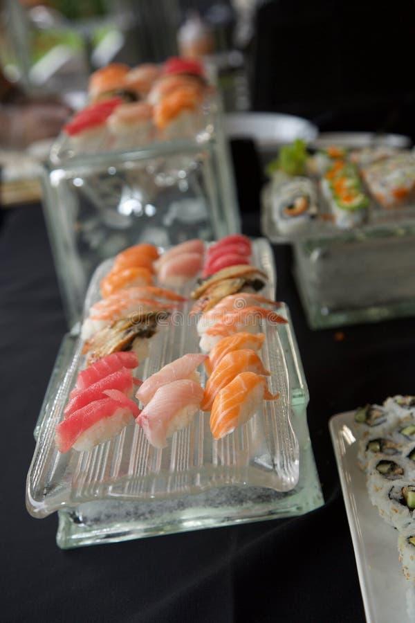 Sushi buffet royalty free stock photos