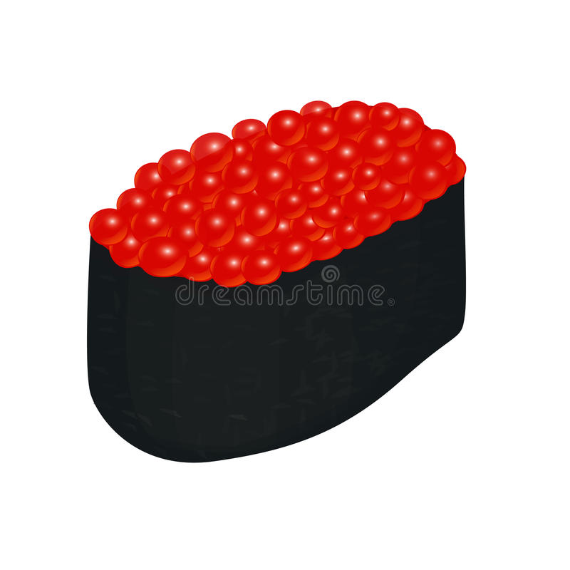 Sushi with caviar vector illustration