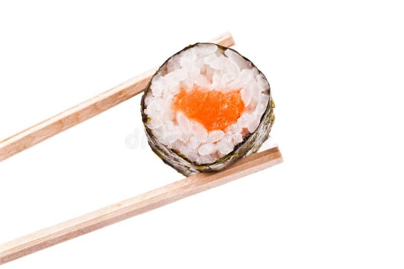 Sushi and Chopsticks royalty free stock photo